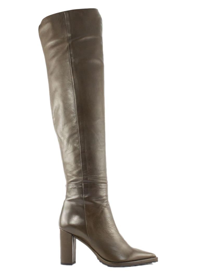 Aldo Castagna Oliva Leather Candida Boots - Oliva