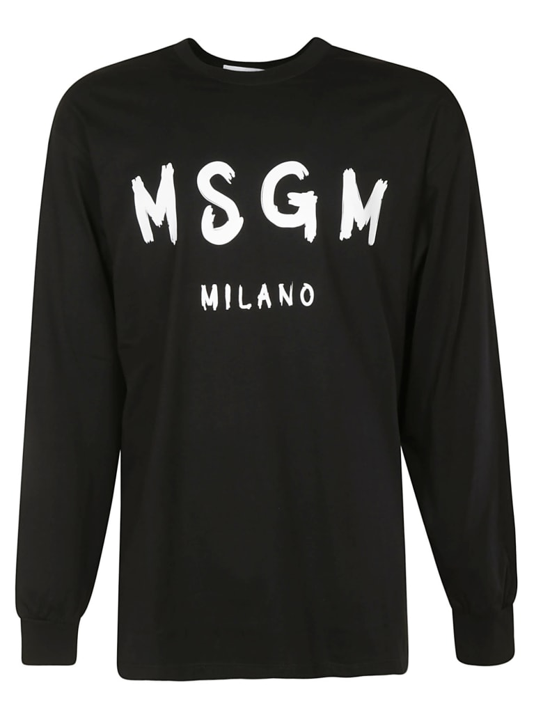 MSGM Milano Long-sleeved T-shirt - Black