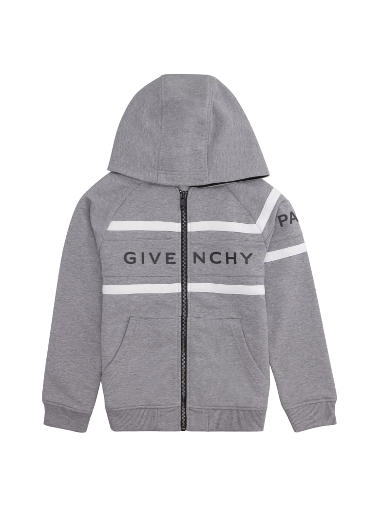 Givenchy Cotton Full-zip Hoodie - grey