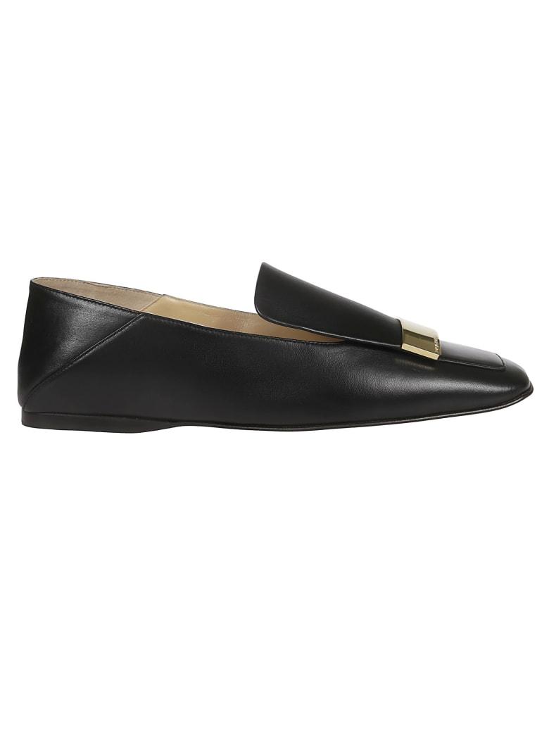 Sergio Rossi Square Toe Slippers - Black