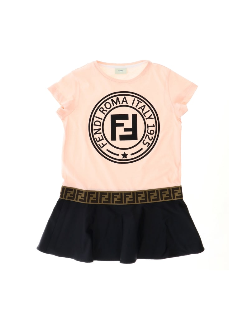 Fendi Fendi Stamp T-shirt Dress - Rosa