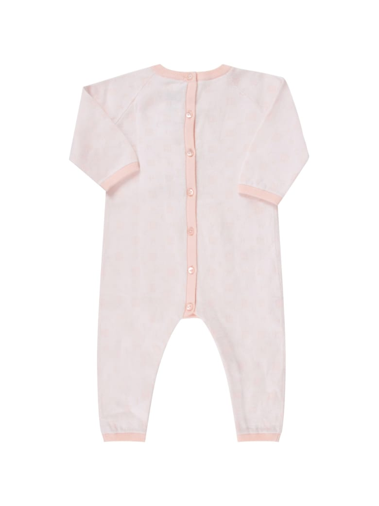 Givenchy Pink Babygrow With Logos For Baby Girl - Rosa pallido