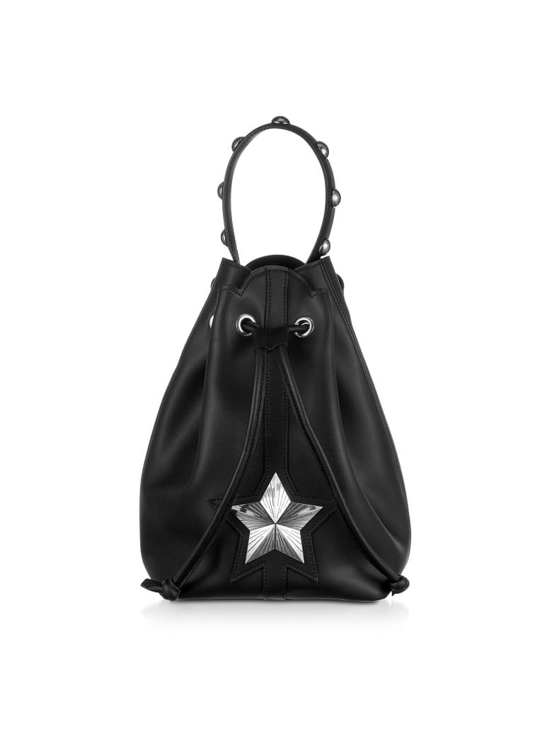 Les Jeunes Etoiles Black Leather Vega Bucket Bag - Black