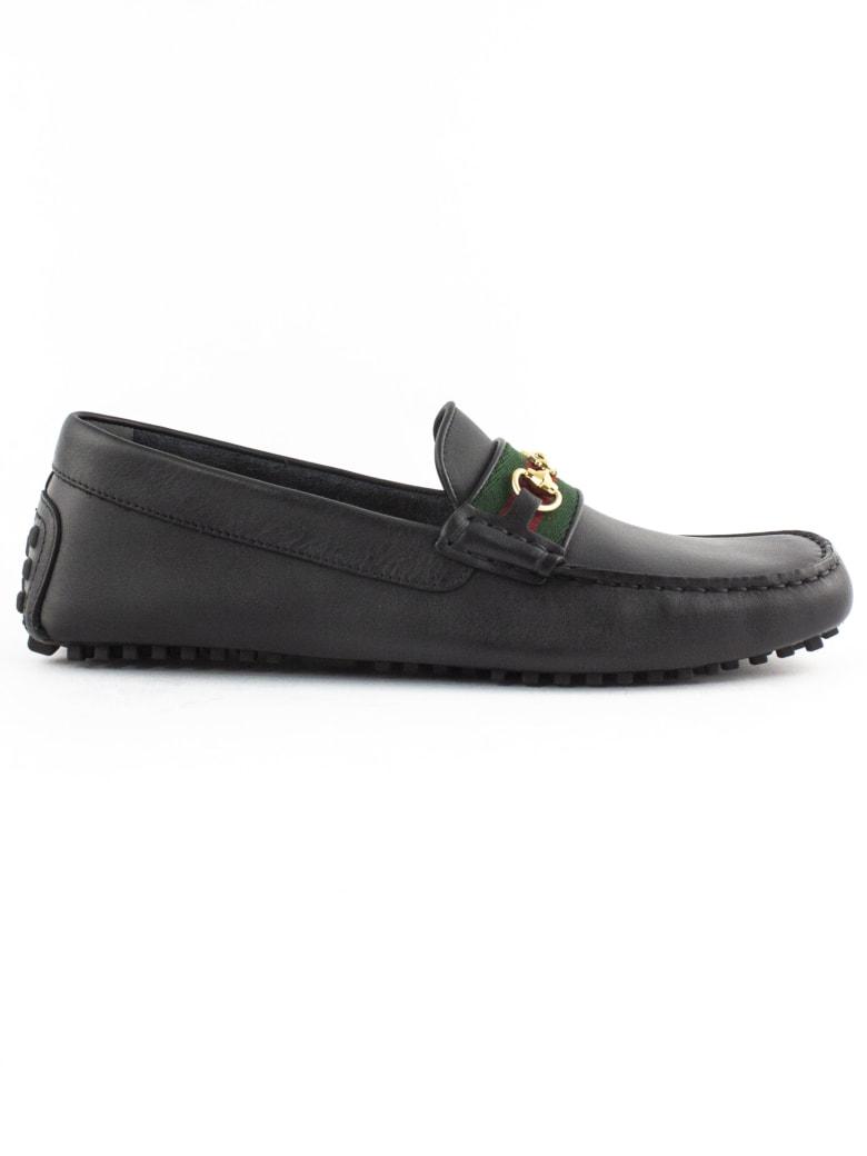 Gucci Black Soft Calf Leather Driver - Nero