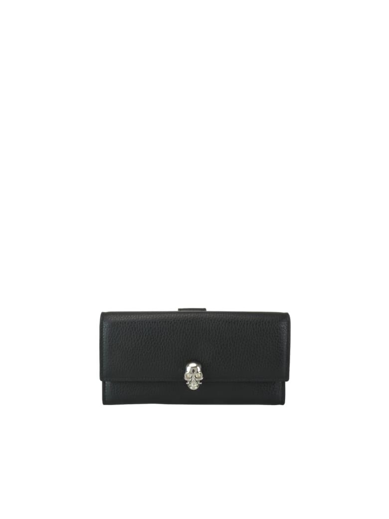 Alexander McQueen Skull Continental Wallet - Black