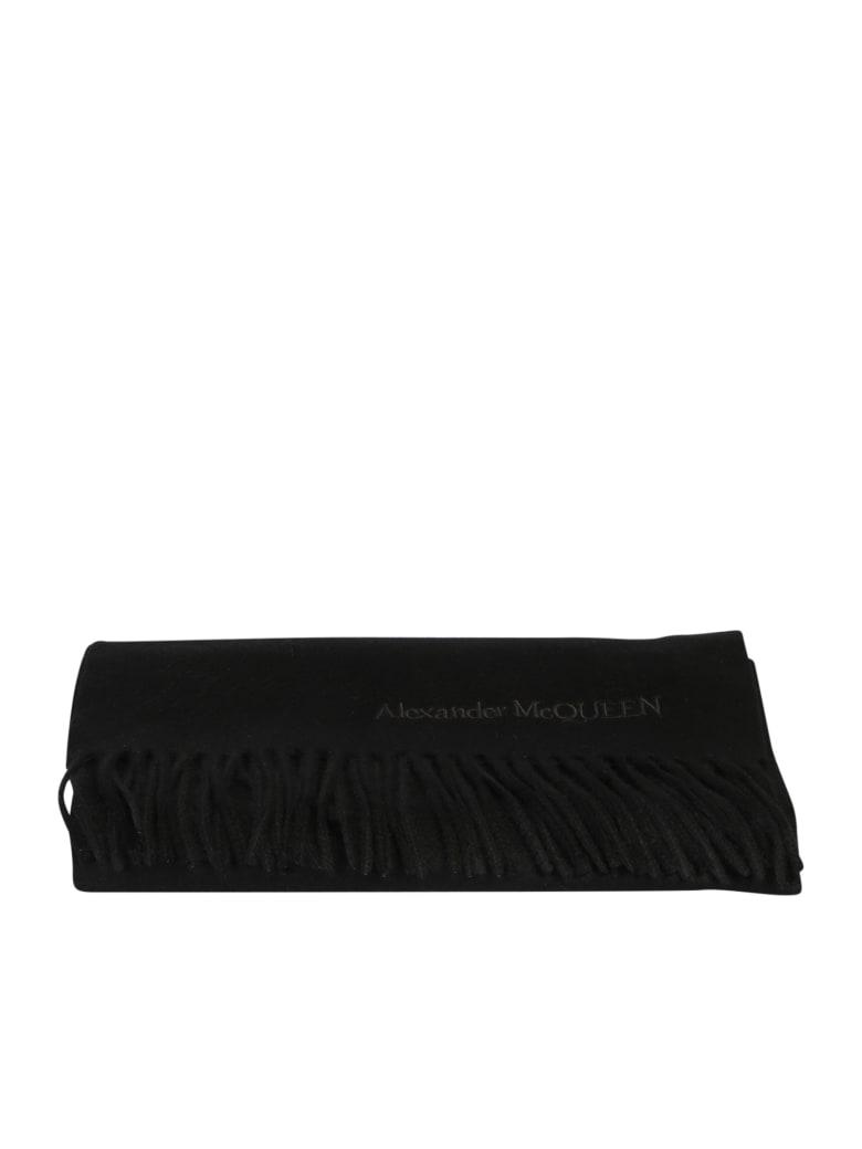 Alexander McQueen Embroidered Scarf - Black