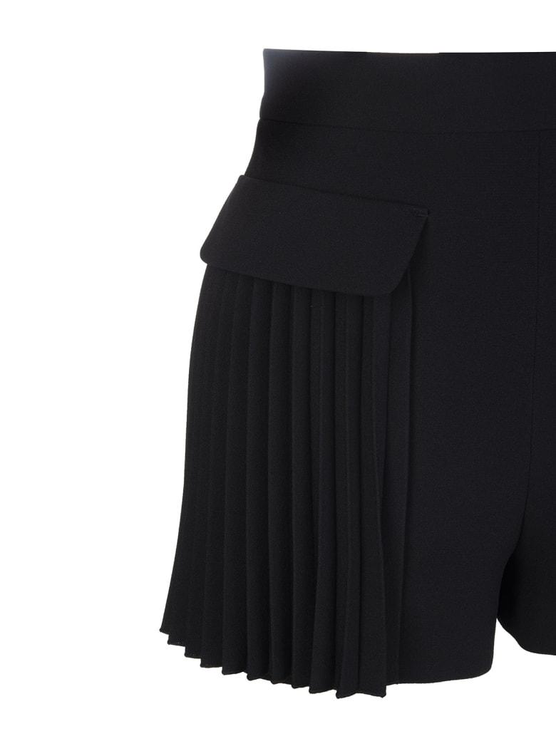 RED Valentino Black Pleated Shorts - Nero