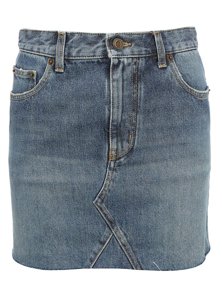 Saint Laurent Denim Skirt - Dusk blue