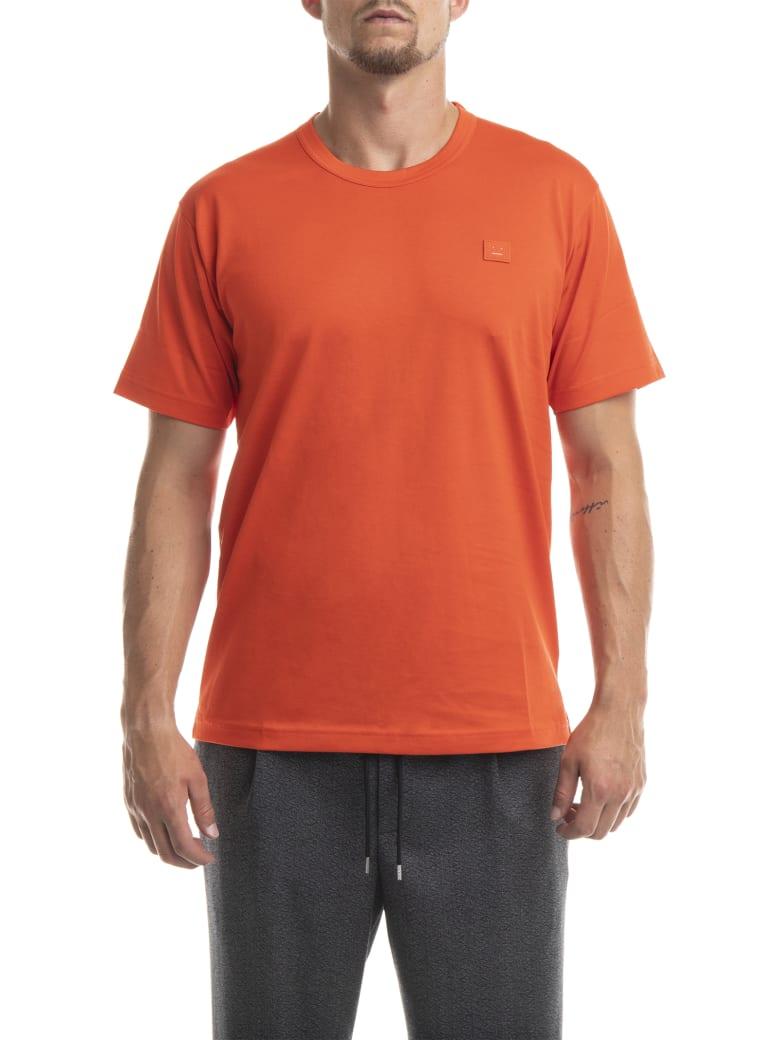 Acne Studios Nash Face Tshirt - Paprika Red