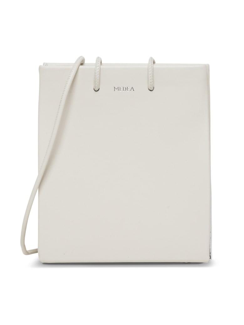 Medea Short Long Strap Crossbody Bag - White