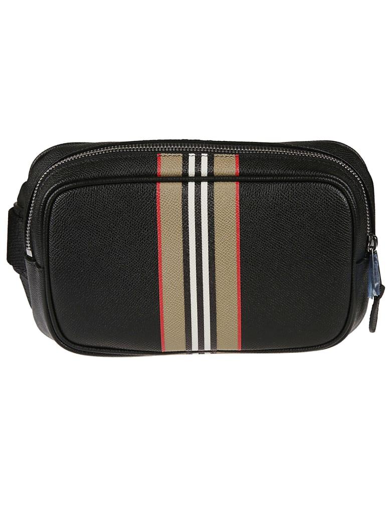 Burberry Zip-around Check Detail Belt Bag - Black