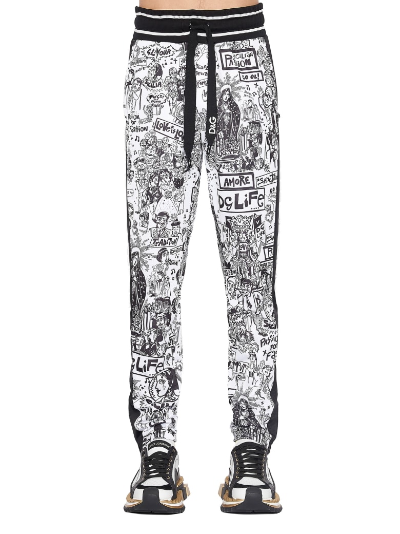 Dolce & Gabbana 'graffiti' Pants - Black&White