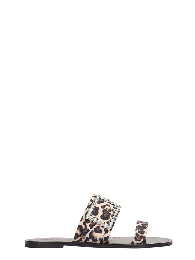 Lola Cruz Animalier Canvas Flats Sandals - Animalier