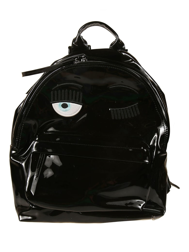 Chiara Ferragni Flirting Eye Backpack - Black