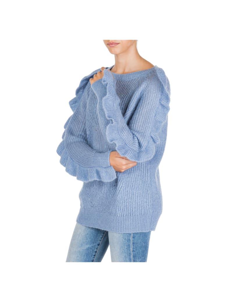 Blumarine  Jumper Sweater Crew Neck Round - Azzurro