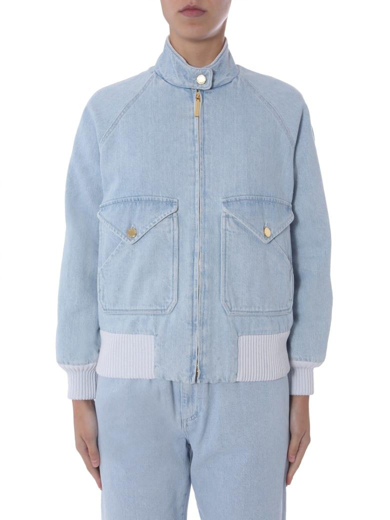 Alberta Ferretti Jacket With Zip - CELESTE