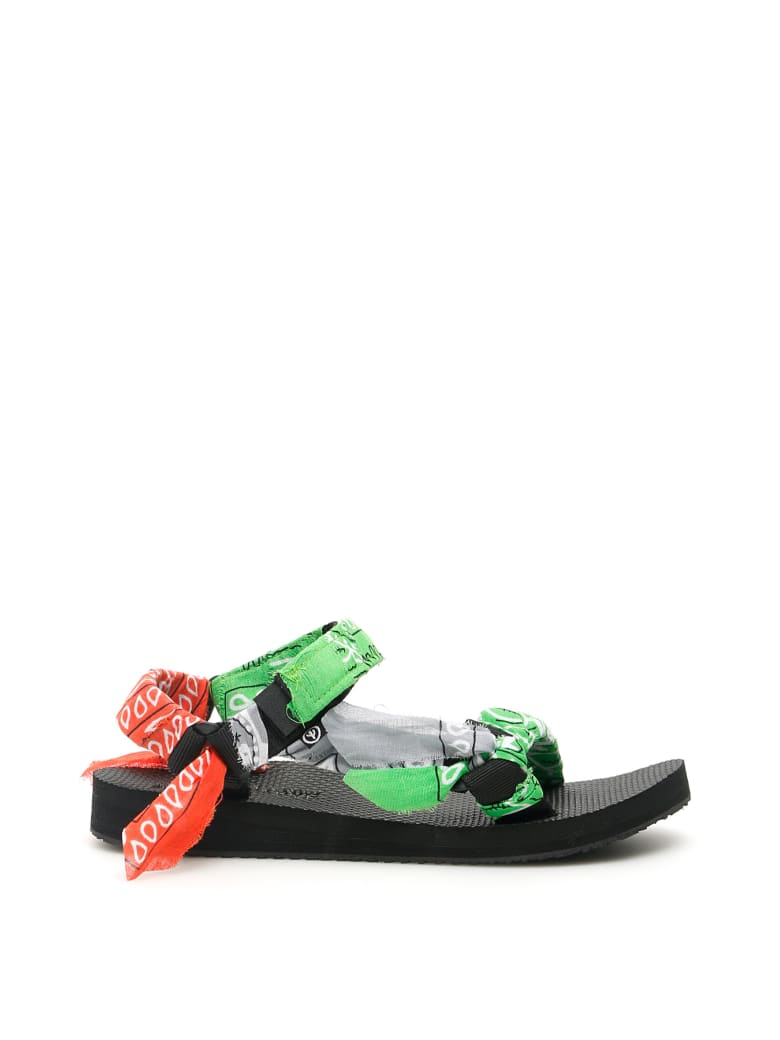 Arizona Love Bandana Trekky Sandals - MIX GREEN (Green)