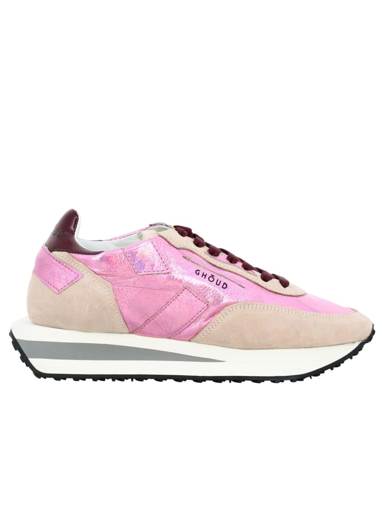 GHOUD Sneakers Rush X Ghoud Sneakers In Suede And Metallic Leather With Maxi Bicolor Rubber Sole - pink