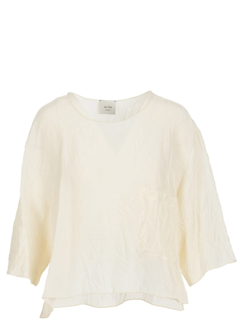 Alysi Viscose Blouse - Latte