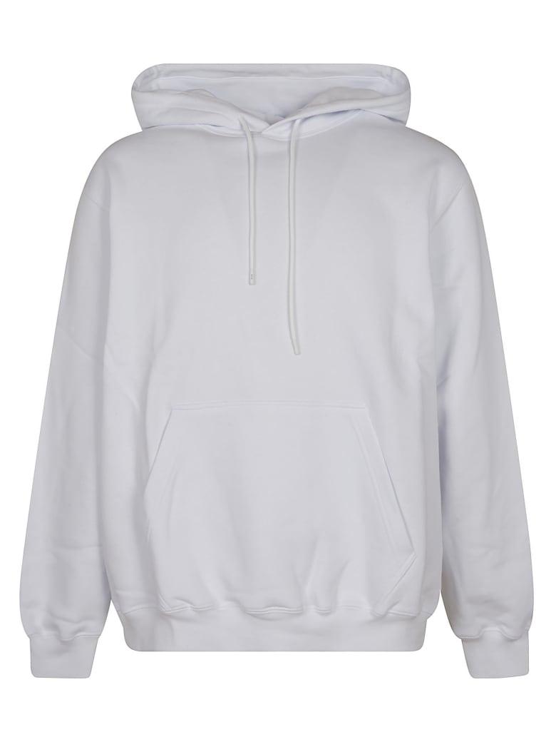 MSGM Logo Printed Hoodie - White