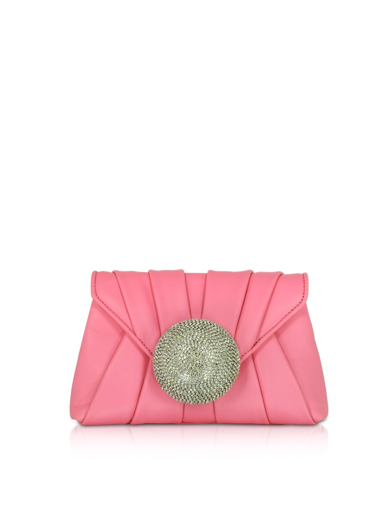 Gedebe Claire Small Nappa Clutch - Hot Pink