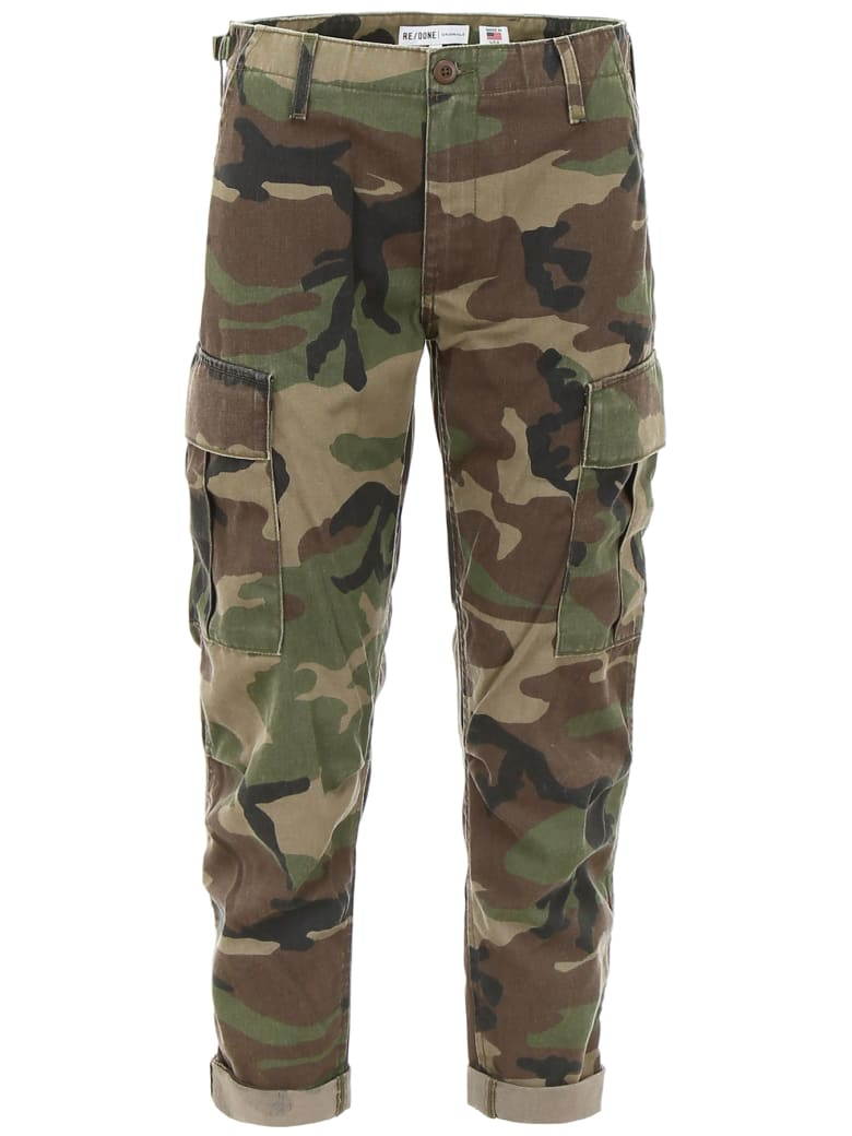 RE/DONE Cargo Trousers - CAMOUFLAGE (Khaki)