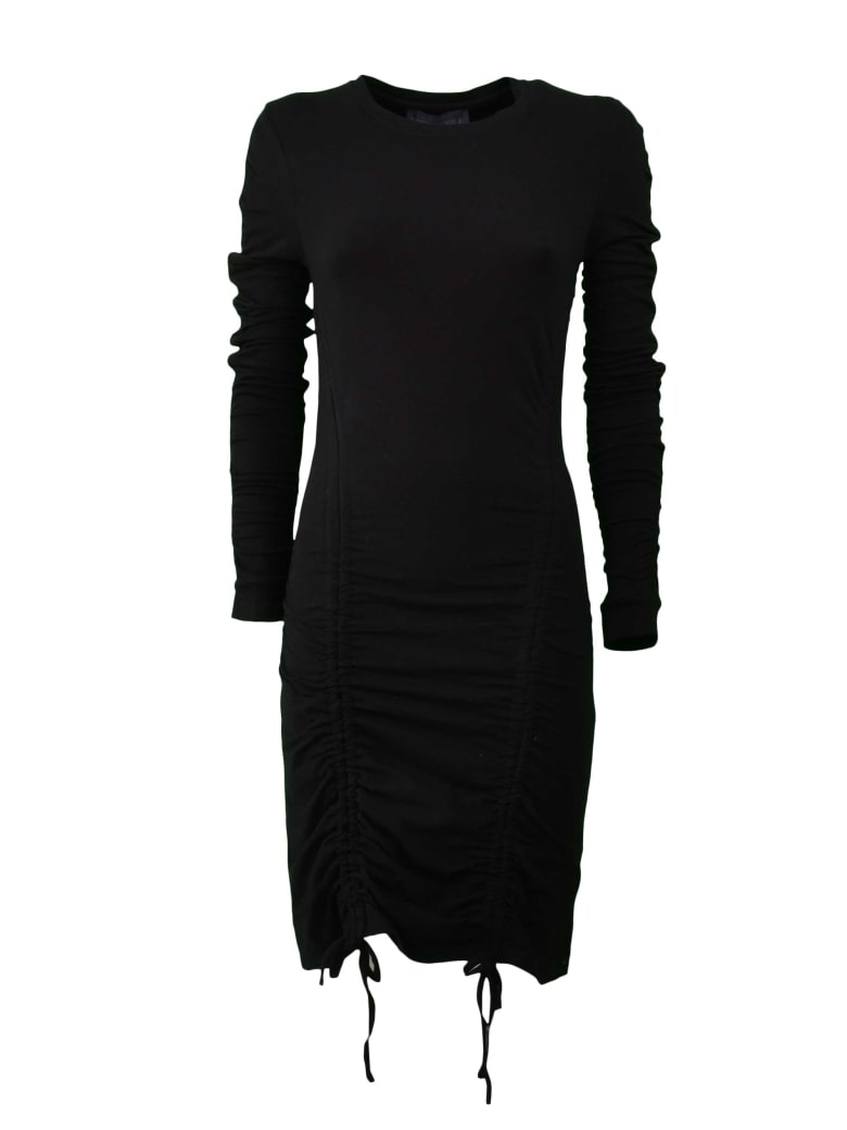 Kendall + Kylie Ruched Dress - Blk Black