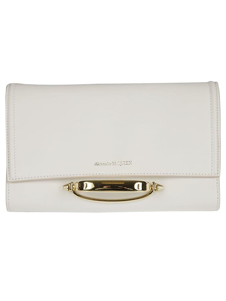 Alexander McQueen Flap Logo Detail Shoulder Bag - Deep Ivory