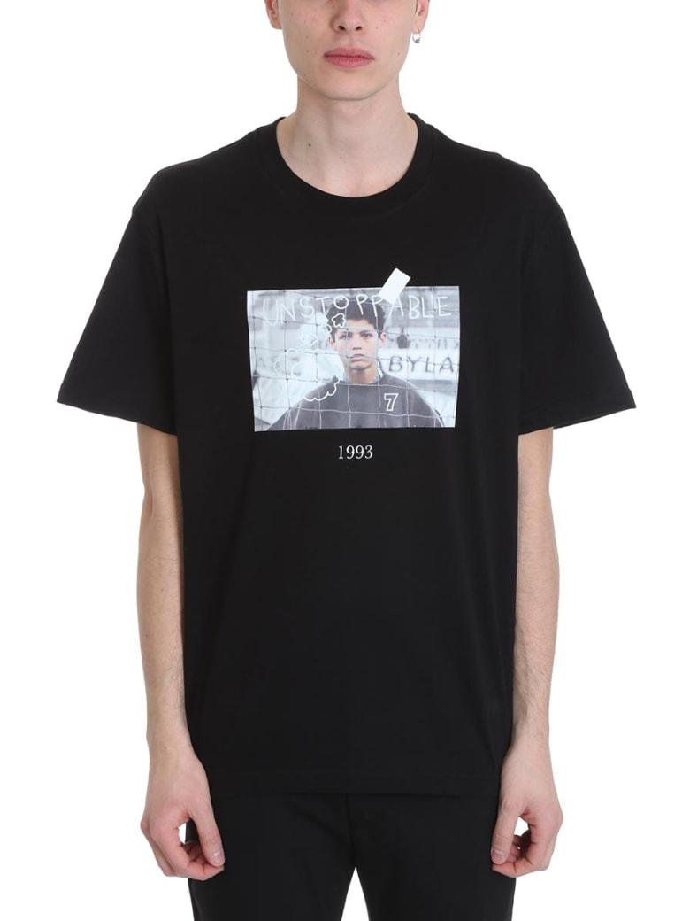 Throwback Cristiano Black Cotton T-shirt - black