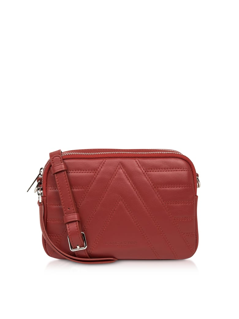 Lancaster Paris Red Parisienne Quilted Leather Crossbody Bag - Red