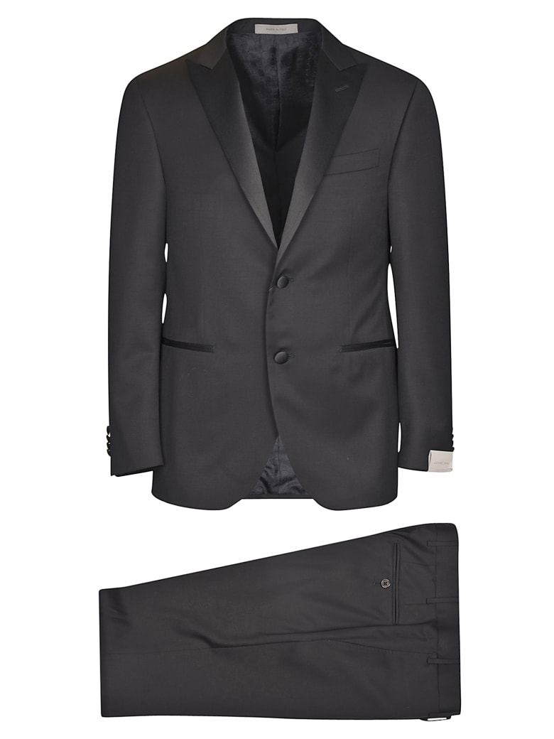 Corneliani Classic Peak Lapel Classic Suit - Black