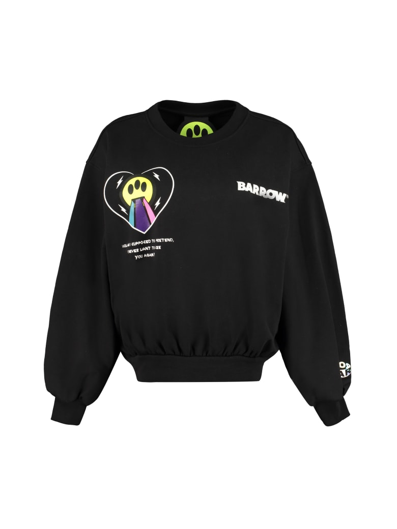 Barrow Cotton Crew-neck Sweatshirt - black