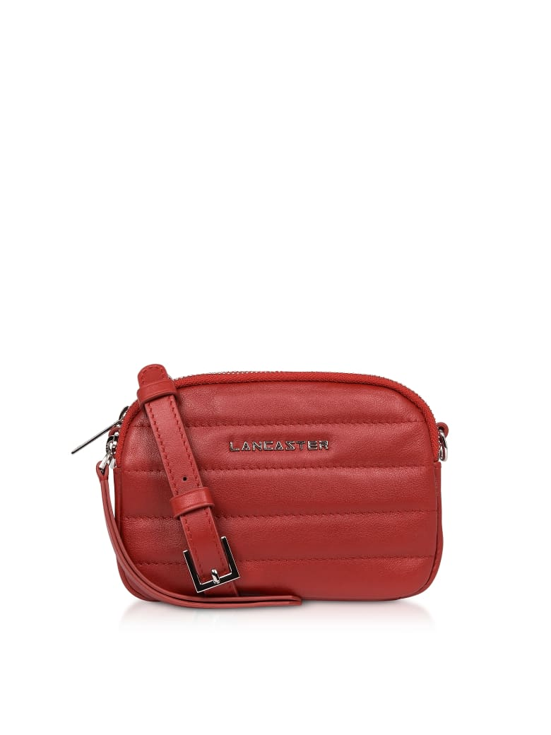 Lancaster Paris Parisienne Couture Mini Crossbody Bag - Red