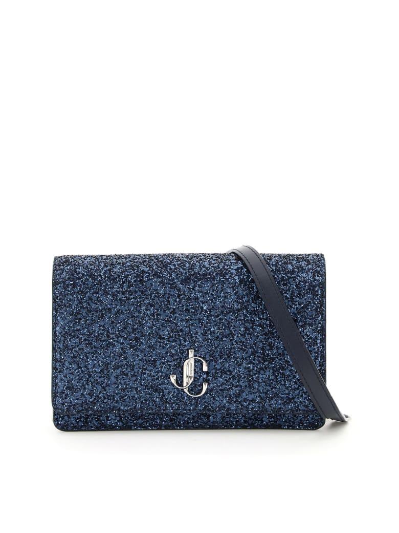 Jimmy Choo Palace Jc Glitter Bag - NAVY