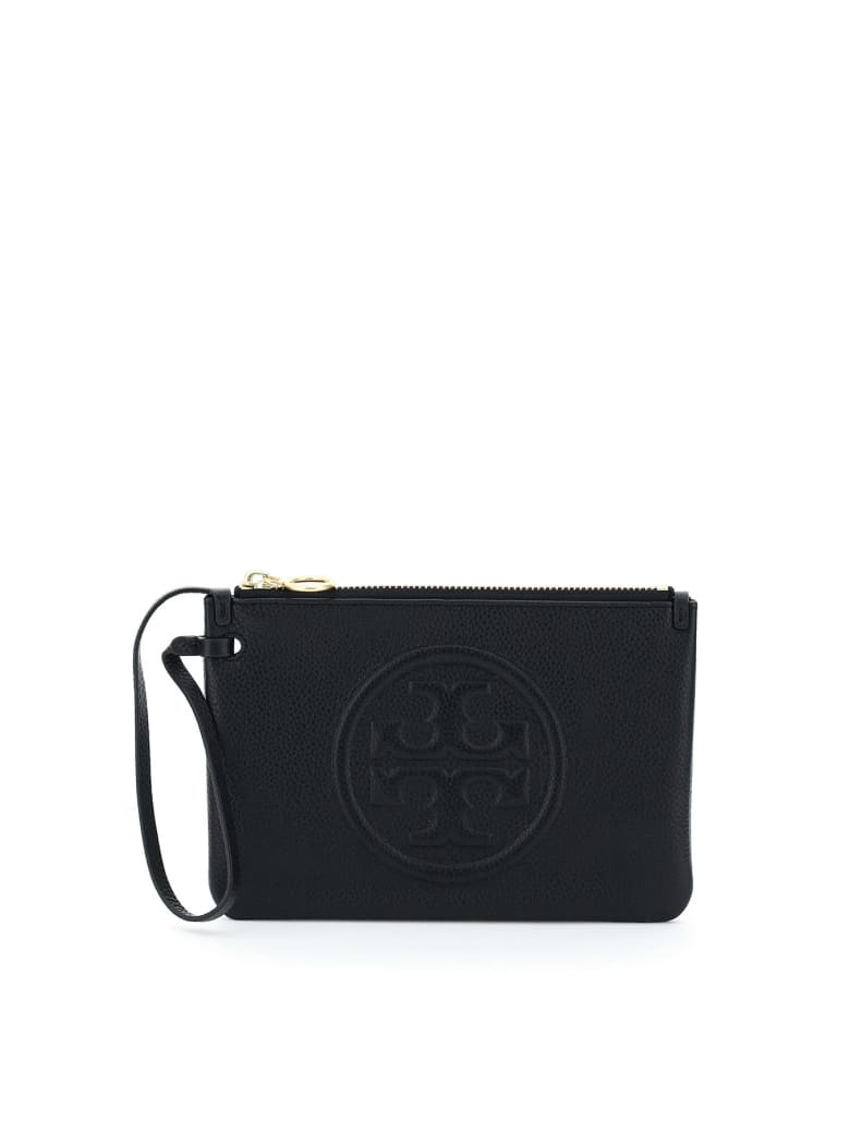 Tory Burch Perry Bombe' Pouch - BLACK (Black)