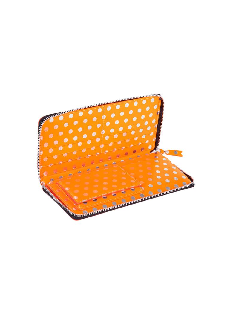 Comme des Garçons Wallet Polka Dot Zip Around Wallet - Orange