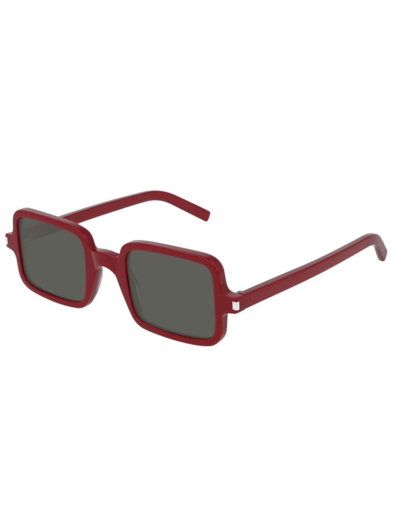Saint Laurent SL 332 Sunglasses - Red Red Grey