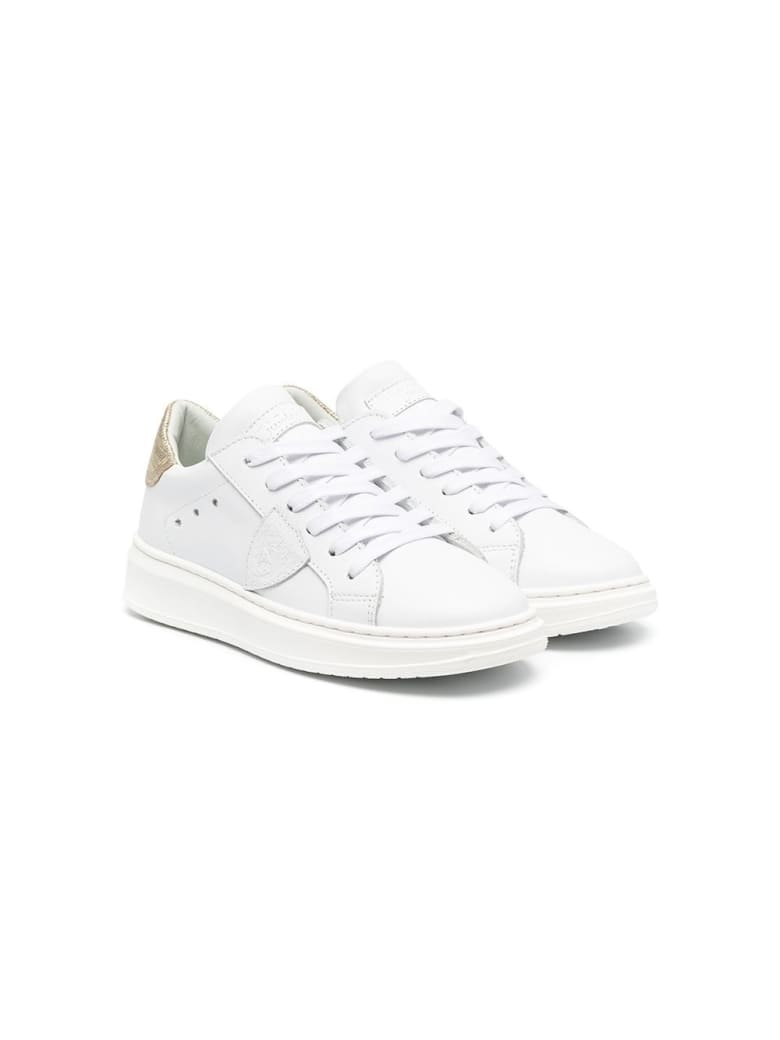 Philippe Model Temple Sneakers In Leather With Logo - White