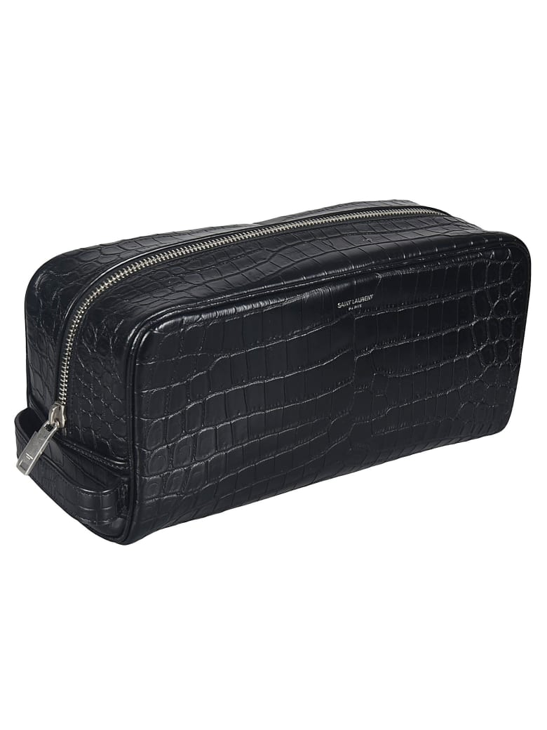 Saint Laurent Skinned Cosmetic Clutch - Black