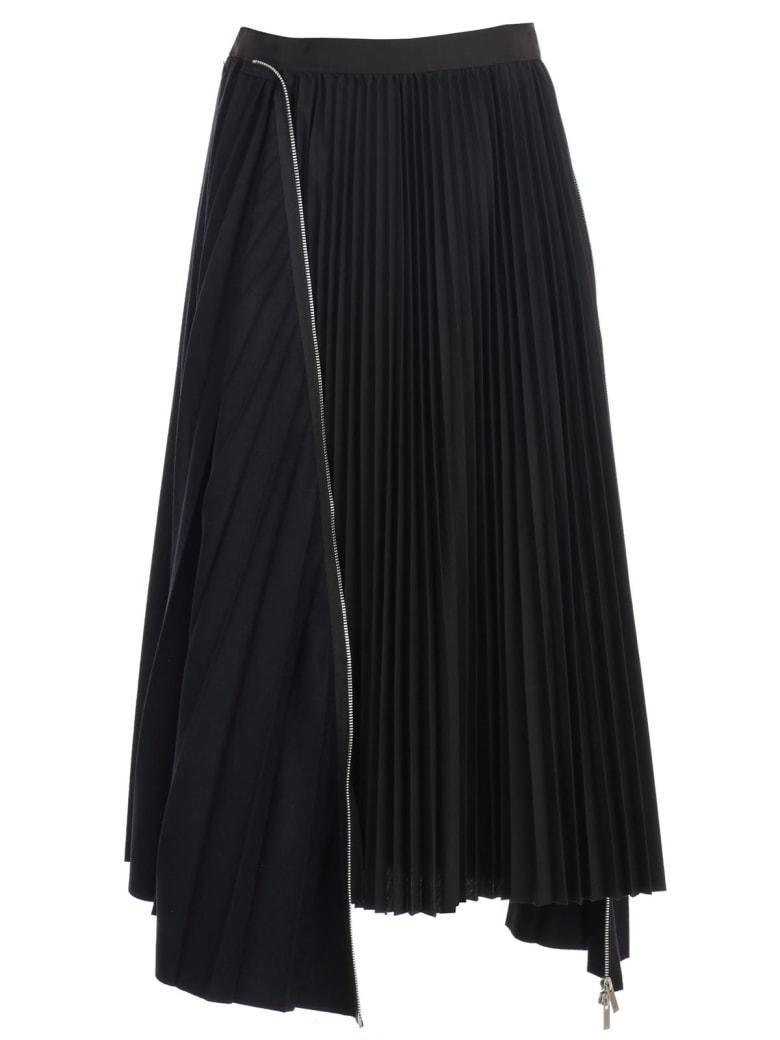 Sacai Skirt Plisse - Navy Black
