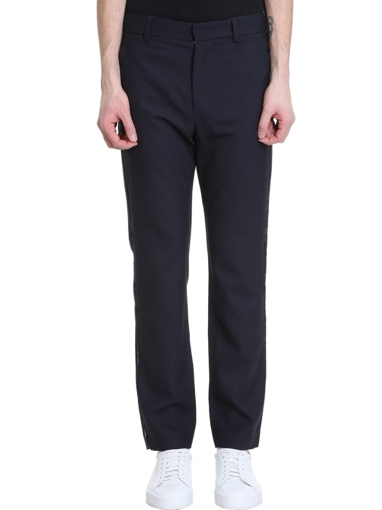 Maison Flaneur Blue Wool Pants - blue