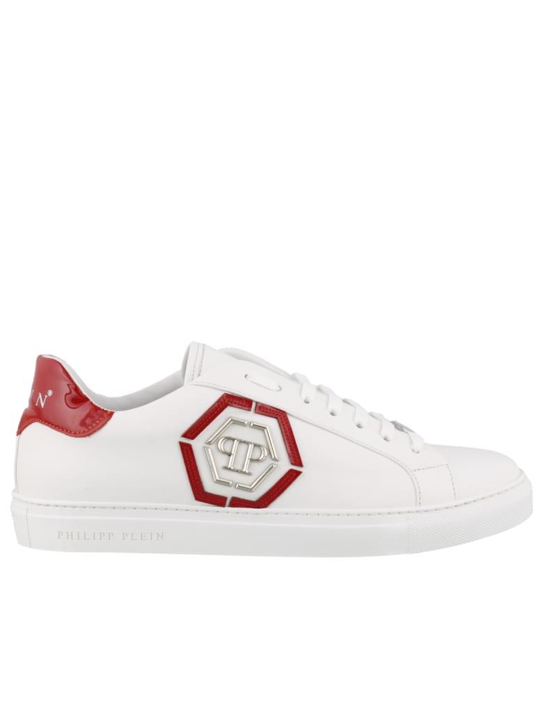 Philipp Plein Lo-top Sneakers Statement - White/red
