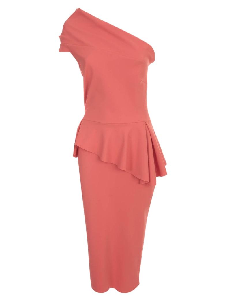 La Petit Robe Di Chiara Boni Dress Single Shoulder - Hibiscus