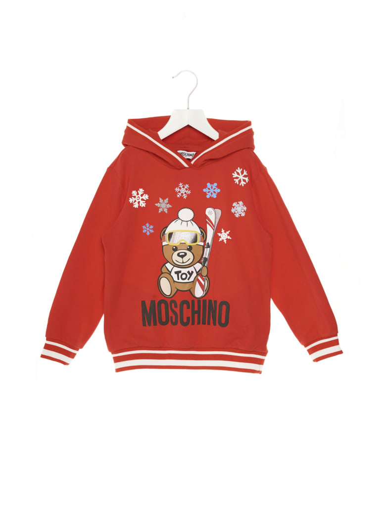 Moschino 'teddy Snow' Hoodie - Red