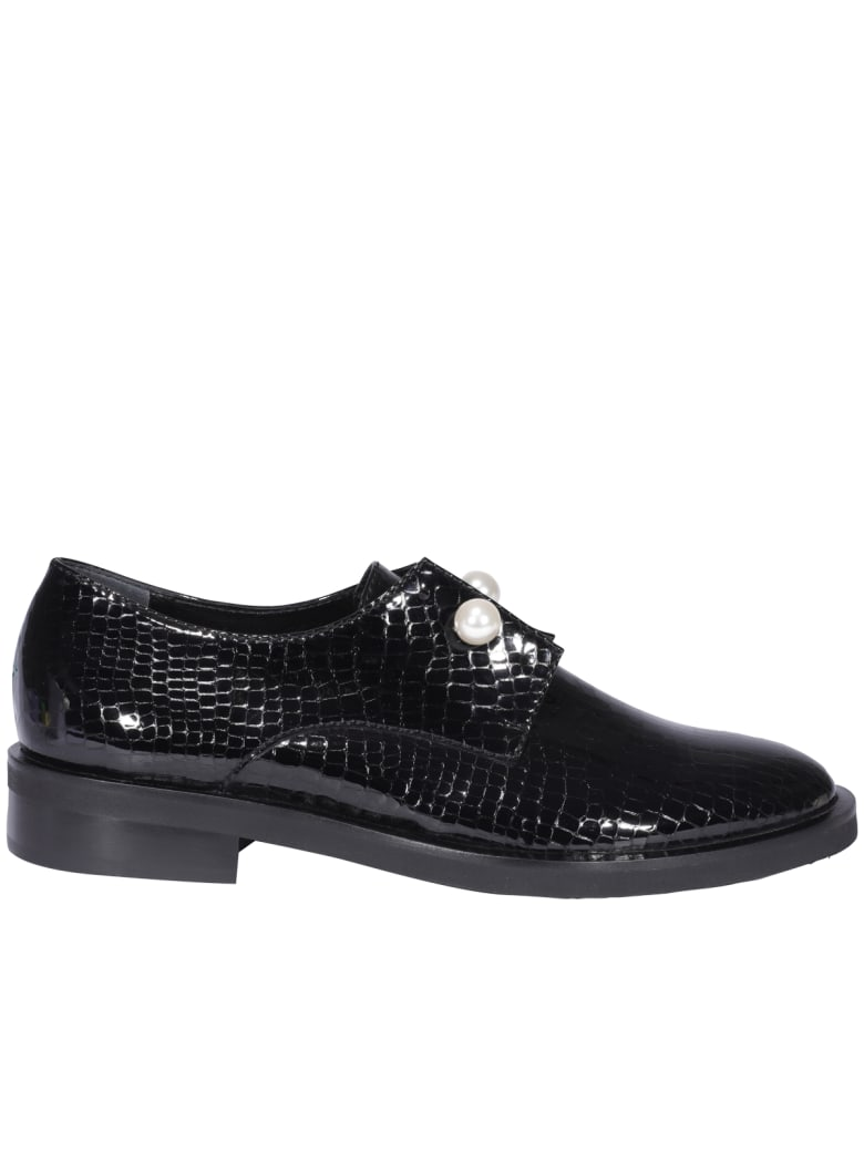 Coliac Ginevra Laced Up Shoes - Black