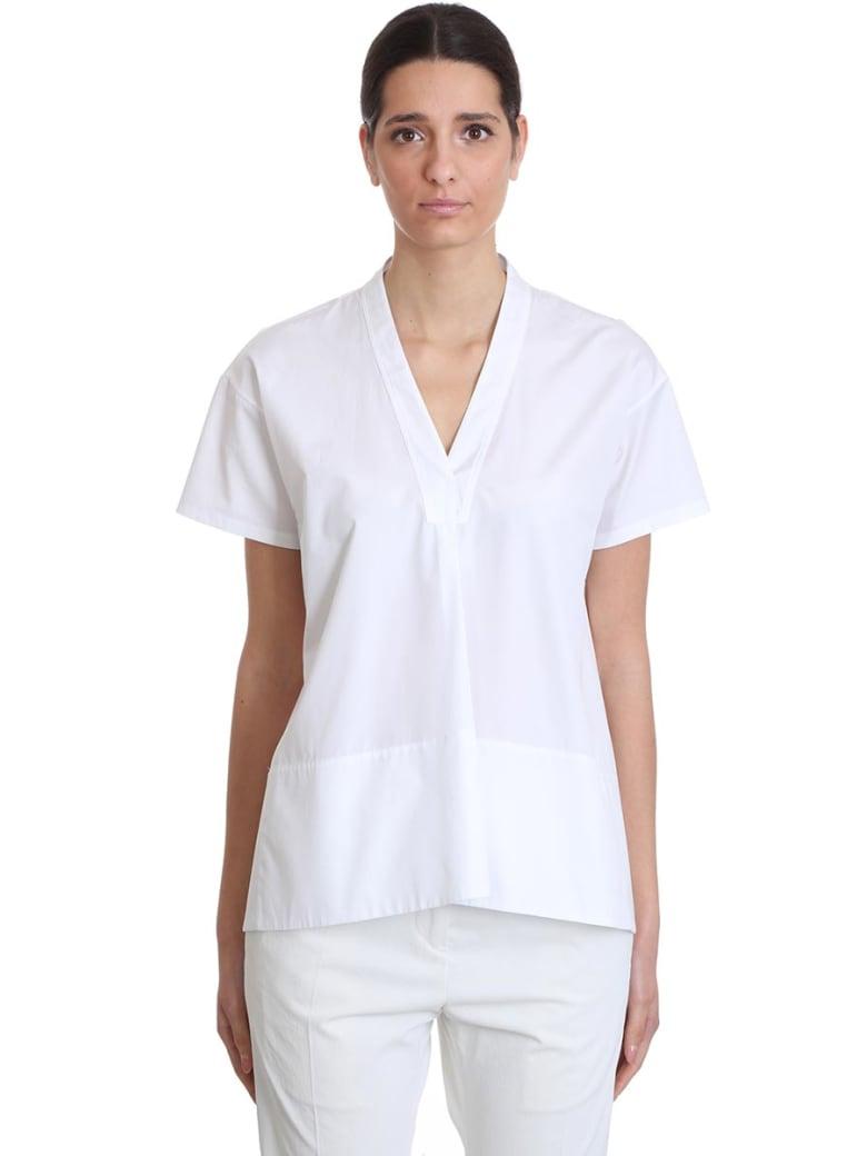 Jil Sander Maria  Shirt In White Cotton - white