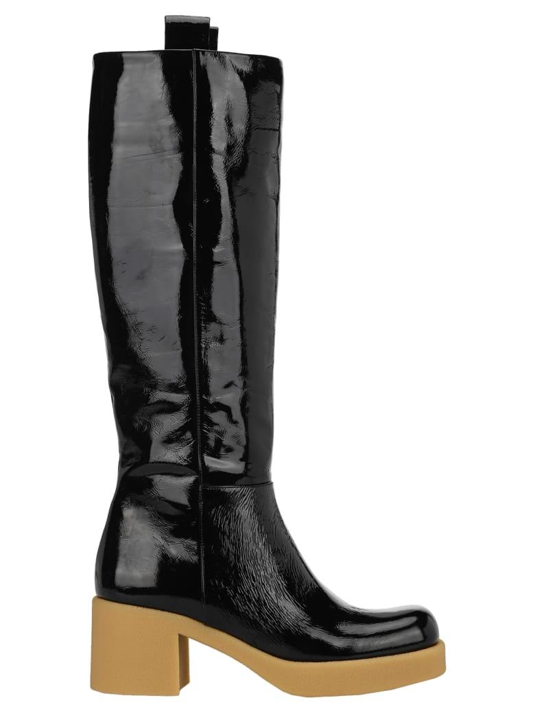 Miu Miu Patent Leather Boots - BLACK