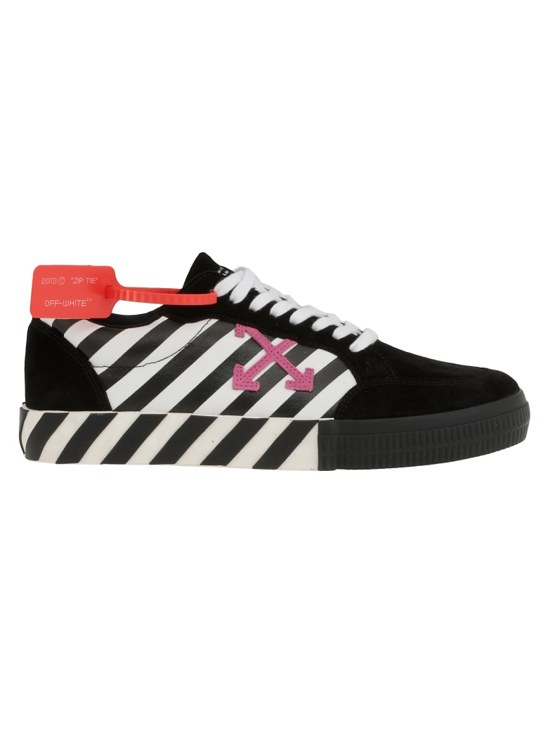 Vulcanised Striped Low Top Sneaker