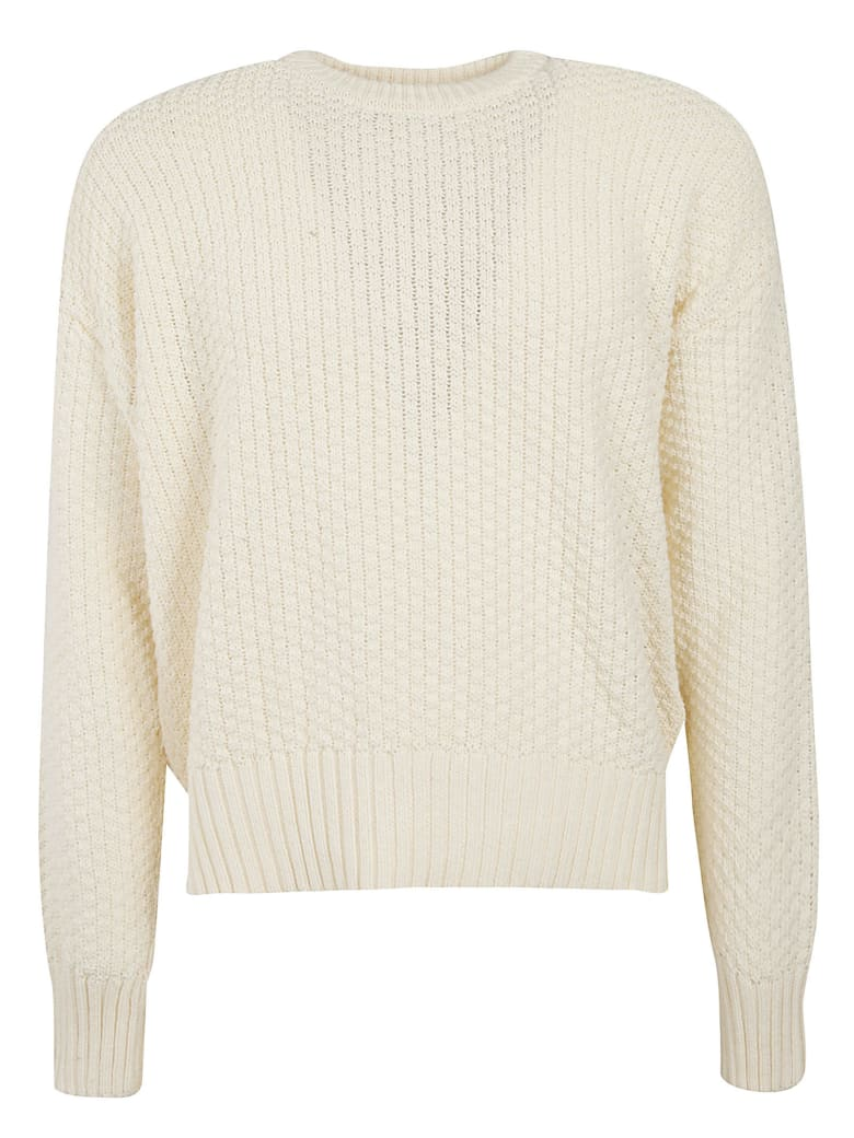 Ami Alexandre Mattiussi Knitted Woven Sweater - Off White