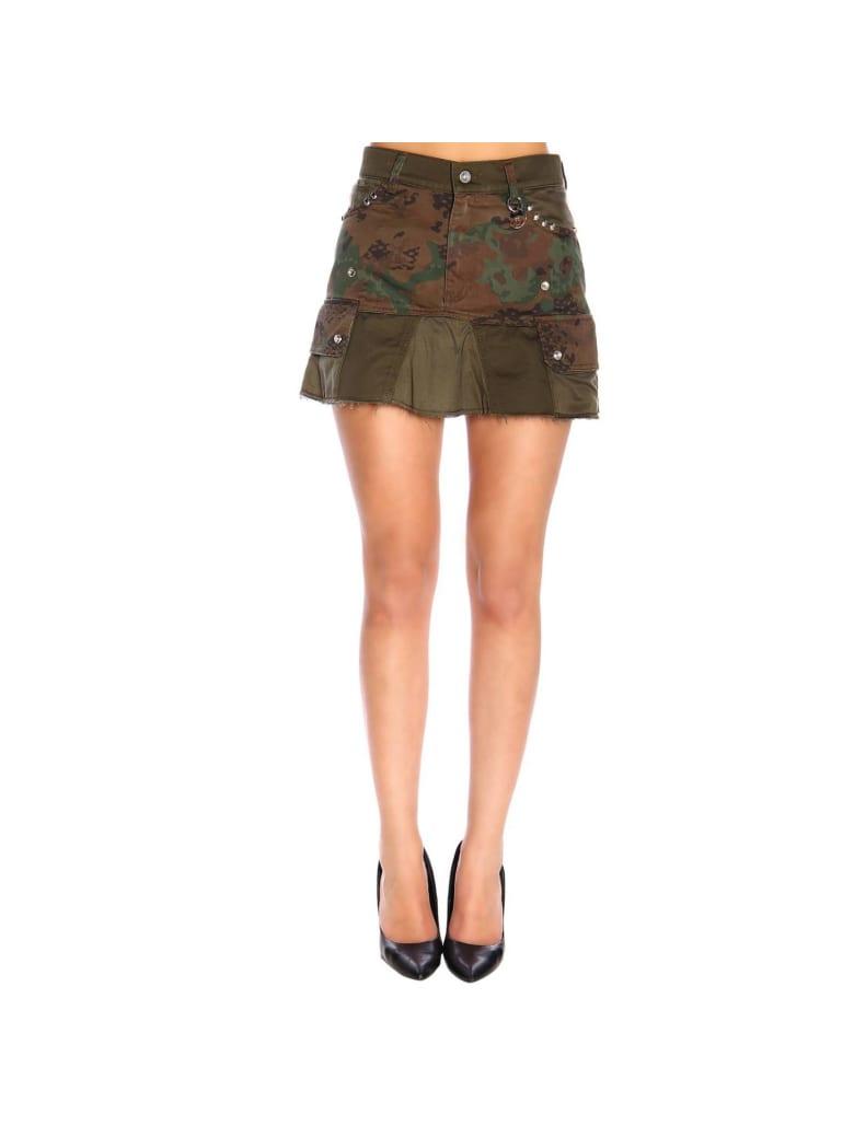 Diesel Skirt Diesel O-loved Kargo Skirt In Camouflage Fabric - military
